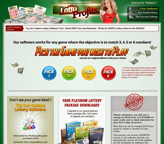 Download Lotto Profits Lottery Software Now