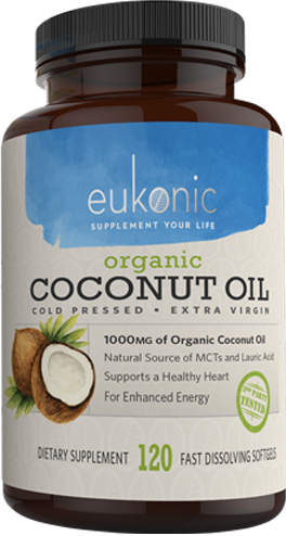 Order Eukonic Extra Virgin Organic Coconut Oil Capsules Now